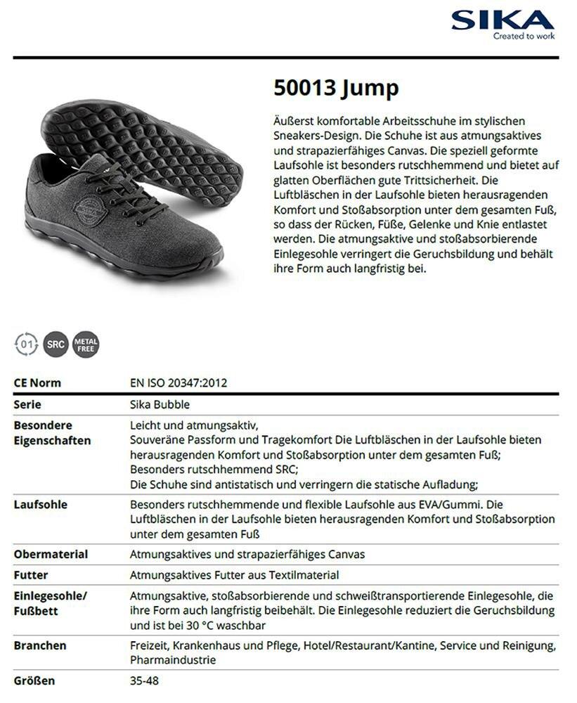 50013 Bubble Jump Sneaker Berufsschuh