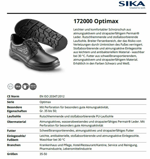 SIKA 172000 Optimax Schnürschuh O1 SRA