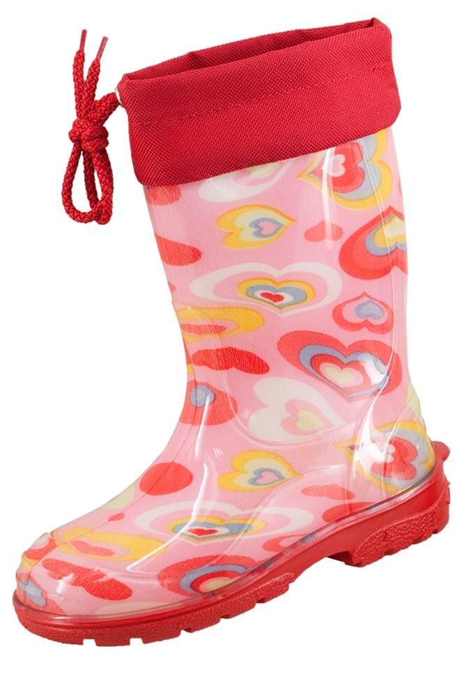 Dunlop Kinder Gummistiefel Eike (35, rosa), Rosa Herzen